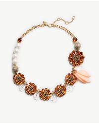 Ann Taylor   Multicolor Crystal Petal Necklace   Lyst