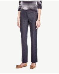 Ann Taylor - Blue The Ankle Pant In Refined Denim - Kate Fit - Lyst