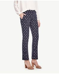 Ann Taylor | Blue The Petite Ankle Pant In Tree Jacquard - Kate Fit | Lyst