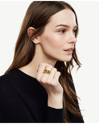 Ann Taylor | Metallic Stackable Rings | Lyst