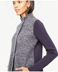Ann Taylor - Multicolor Merino Wool Paneled Coatigan - Lyst