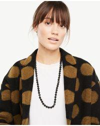 Ann Taylor - Black Beaded Necklace - Lyst