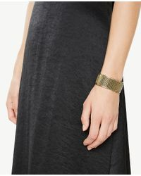 Ann Taylor - Black Satin Flare Skirt - Lyst