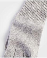 Ann Taylor - Gray Cashmere Tech Gloves - Lyst