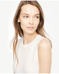 Ann Taylor | Metallic Delicate Necklace | Lyst