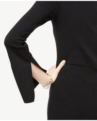 Ann Taylor - Black Tall Slit Sleeve Flare Sweater Dress - Lyst