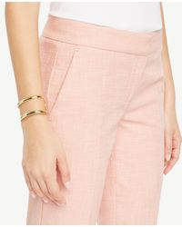 Ann Taylor - Pink The Ankle Pant In Texture - Kate Fit - Lyst