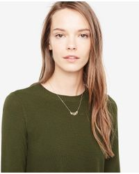 Ann Taylor - Metallic Delicate Necklace - Lyst