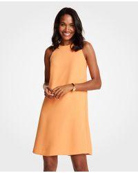 Ann Taylor - Orange Petite Sleeveless Shift Dress - Lyst