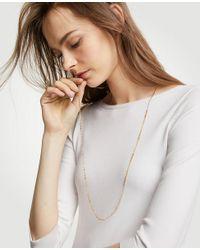 Ann Taylor - Metallic Triple Crystal Station Necklace - Lyst