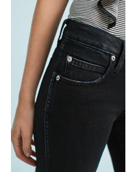 AMO | Black Kate Mid-rise Cropped Jeans | Lyst
