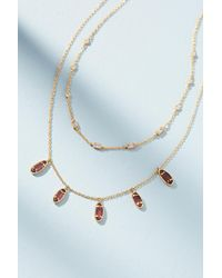 Anthropologie | Pink Marisa Layered Necklace | Lyst
