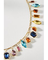 Anthropologie - Metallic Candy Carm Bib Necklace - Lyst