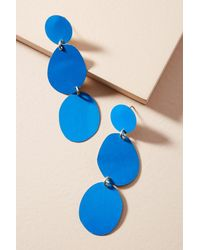 Sibilia - Blue Painted Pebble Drop Earrings - Lyst