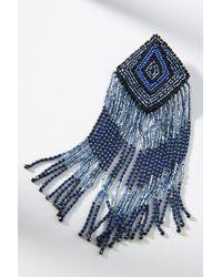 Olivia Dar - Blue Tasseled Arlequin Drop Earrings - Lyst