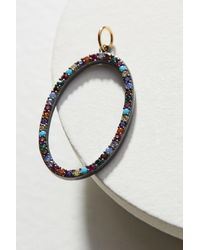 Anthropologie | Blue Open Oval Charm | Lyst