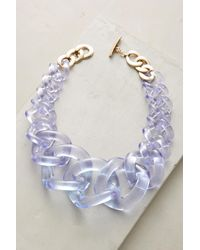Anthropologie - Multicolor Looped Lucite Necklace - Lyst