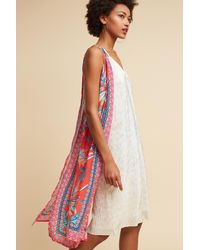 Anthropologie | Red Tropical Split-back Vest | Lyst