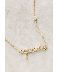 Anthropologie | Metallic Astrologer Necklace | Lyst