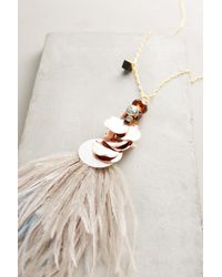 Nocturne | White Heari Feather Pendant Necklace | Lyst