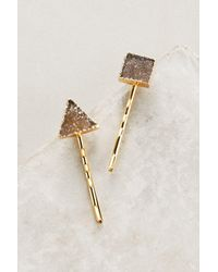 Anthropologie | Multicolor Ellie Druzy Bobby Pin Set | Lyst