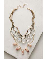 Anthropologie - Metallic Selma Layer Necklace - Lyst
