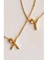 Anthropologie - Multicolor Delicate Monogram Necklace - Lyst