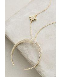 Anthropologie - Metallic Luna Necklace - Lyst