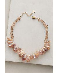 Anthropologie | Metallic Found Quartz Necklace | Lyst