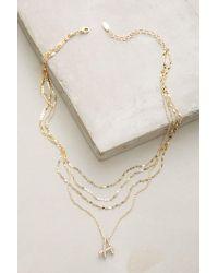 Anthropologie | Metallic Initial Script Necklace | Lyst