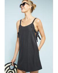 Tavik - Black Buttoned Slip Dress - Lyst