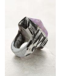 Anthropologie | Metallic Amethyst Bar Ring | Lyst