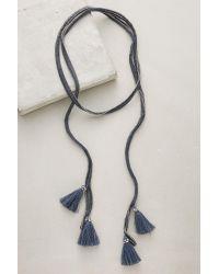 Chan Luu | Blue Tasseled Wrap Necklace | Lyst