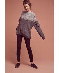 Laura Siegel - Gray Aumar Fringed Wool Pullover - Lyst