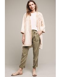 Blank | Natural Paloma Embroidered Kimono Jacket | Lyst