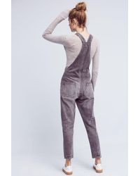 Citizens of Humanity - Gray Audrey Skinny Overalls - Lyst