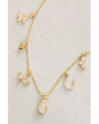 Anthropologie - Yellow Key & Cosmos Layering Necklace - Lyst