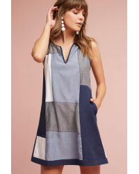 HD In Paris | Blue Patched Indigo Tunic Dress | Lyst