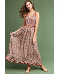 Ranna Gill - Crespi Maxi Dress, Red - Lyst