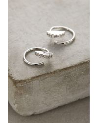 Anthropologie | Metallic Kiernan Mini Hoop Earrings | Lyst