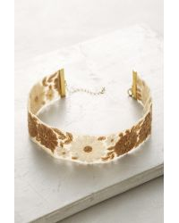 Anthropologie | Metallic Josephine Embroidered Choker | Lyst