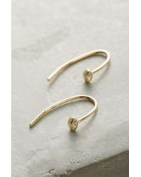 Anthropologie | Metallic Waterfall Arc Drop Earrings | Lyst