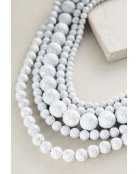 Anthropologie - White Shakira Layering Necklace - Lyst