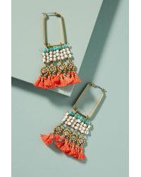 Serefina - Multicolor Coral Reef Hoop Earrings - Lyst