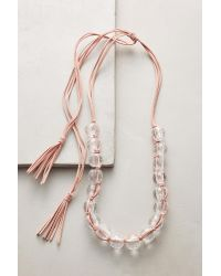 Rush by Denis and Charles - Pink Beaded Lucite Necklace - Lyst