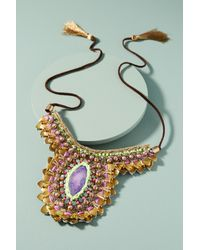 Anthropologie | Multicolor Purple Thorn Necklace | Lyst