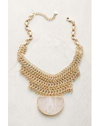 Anthropologie | Metallic Quartz Chainmail Choker Necklace | Lyst