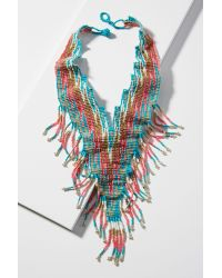 Anthropologie   Blue Sunset Beaded Necklace   Lyst