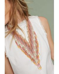 Anthropologie   Multicolor Sunset Beaded Necklace   Lyst