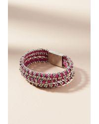 Serefina | Purple Marisol Wrap Bracelet | Lyst